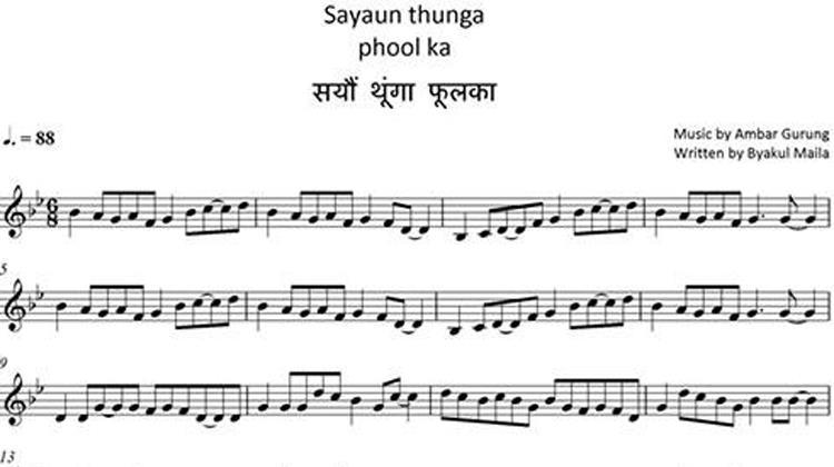 Sayaun Thunga Phool Ka