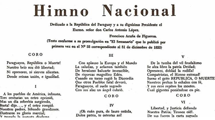 Himno Nacional Paraguayo