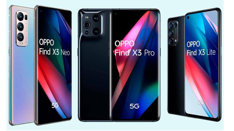 Oppo Find X3 Find X3 Lite Find X3 Pro Find X3 Neo
